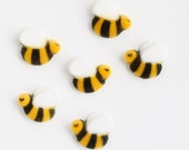 Bumble Bee Edible Sugar Decorations, Bumble Bee Sugar Toppers, Bee Cupcake Toppers, First Birthday Party (12)
