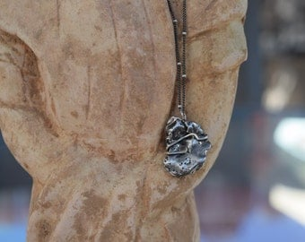 Meteorite Necklace Wire Wrapped in Sterling Silver