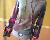 Harry and The Hippe Chic One aof A Kind Hand Dyed Patchwork Sweater Hoodie