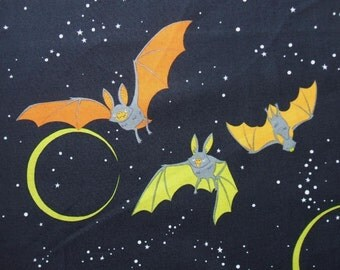 Bellatrix the Bat Night Sky Alexander Henry Halloween Fabric