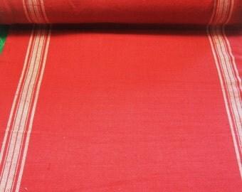 """Moda Rural Jardin Rouge Red Toweling Table Runner Fabric Hemmed 16"""" Wide Yard"""