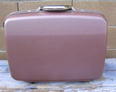 Samsonite Silhouette 4 Hard Sided Shell Suitcase, Vintage New with Tags, 1987 Mid Century, Medium Size Wheeled Suitcase, Mauve Rose Color