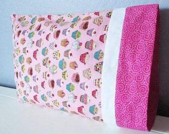 Pink Cupcakes Pillow - Travel/Toddler