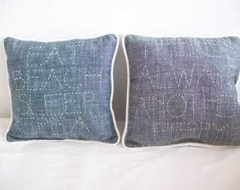 Beachy Throw Pillows Downloadable PDF Sewing Pattern and Instructions for Making Beach Themed Pillows