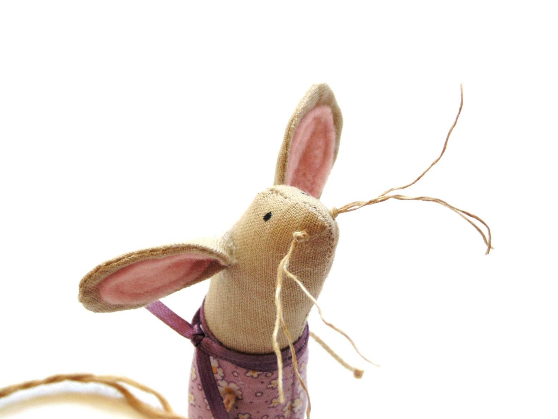 Lavender Sachet Organic Lavender Mouse Sachet Fabric Mouse