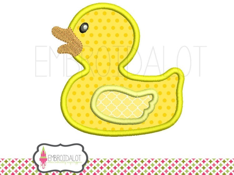 Rubber Duck Applique Embroidery Design Duck By Embroidalot