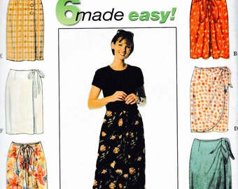 Simplicity 7525 Wrap island Skirt 3 Length pattern