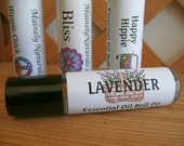 Lavender Pure Essential Oil Roller, Roll On Perfume, All Natural Aromatherapy