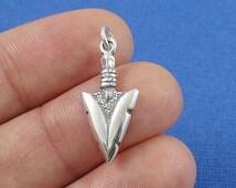 Arrowhead Charm - Sterling Silver Arrowhead Charm for Necklace or Bracelet