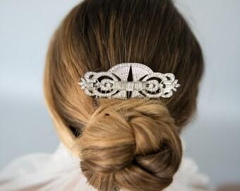 Vintage Inspired Bridal Wedding Art Deco Crystal Hair Comb