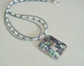 Abalone Mosaic Pendant Necklace
