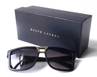 ralph lauren designer sunglass box gift storage navy blue gold supplies for sunglasses accessories jewelry store him her medium rectangular