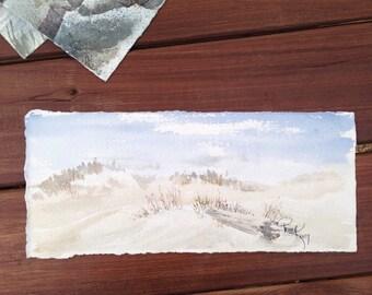 Sand Dune Watercolor
