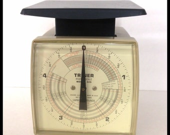 Vintage Triner Postal Scale, 1967, Model 425, 5 Pound Capacity, Working Condition, Accurate, Made in the USA