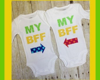 Best Friends Forever My BFF set of two shirts/bodysuits