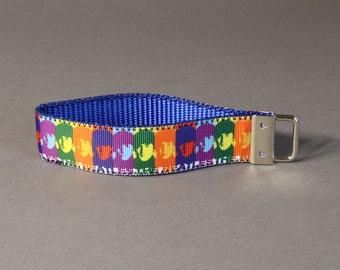 Colorful Beatles Wristlet Keychain