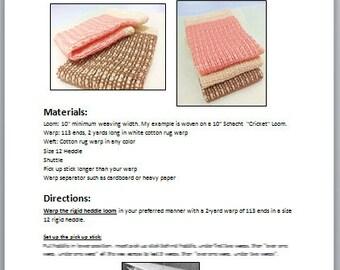Little Meg Rigid Heddle Loom Weaving PDF Pattern