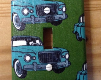 Vintage car switch plate cover