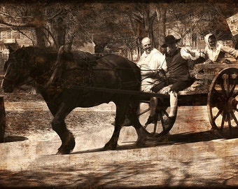 Going to Market- Mixed Media - fine art photography-  Williamsburg VA photography- fine art print- home decor- office decor- wall art- gift