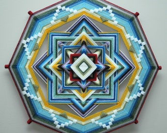 Carried Away, an 18-inch, 8-sided Mandala by Elizabeth Tingley