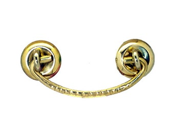 2 inch centers drawer pull solid brass