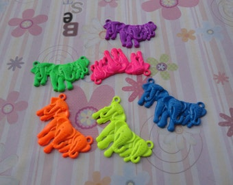 20pcs mix color elephant findings 45x28mm