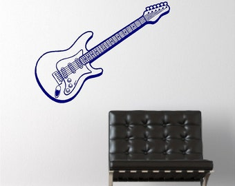 Electric Guitar Decal Removable Guitar Wall Sticker