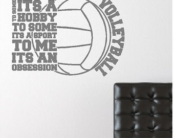 Wall Art Sticker Etsy - Vinyl volleyball wall decals