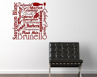 Subway Wine Wall Quotes Words Sayings Removable Wine Wall Decal Lettering