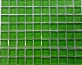 100 MINI Leaf Green Crystal Glass Mosaic Tiles 3/8 inch//Mosaic Supplies//Mosaic//Crafts