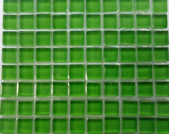 100(10mm) Leaf Green MINI Crystal Glass Mosaic Tiles 3/8 in.//Mosaic Supplies//Mosaic//Crafts