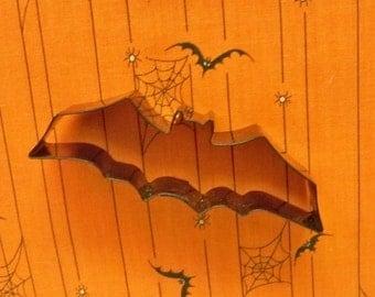 "Bat Cookie Cutter ~ Original Black Metal Enamel Silhouette Cutter ~ 1 1/4"" By 4 ""  Halloween Theme ~ Mint"