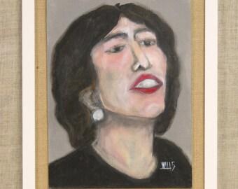 Female Portrait Painting, Brunette, Portraiture, Paintings of Women, Framed Art , Original Fine Art, Handmade, Hand Painted