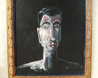 Portrait Paintings of Men, Wil Shepherd Studio, Male Portraiture, Original Fine Art, Framed, Large, Handmade, Images of Men, Hand Painted