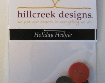 Holiday Hedgie Button Pack from Hillcreek Designs B244-QDD