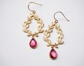 The Goddess's Earrings -  Wreath Earrings - Gold Filled Earrings