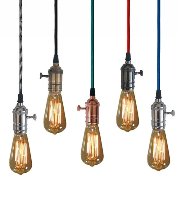 Plug In 15FT Pendant Lighting 5 Color Choices Includes