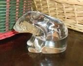 Vintage Glass Polar Bear Votive Tea Light Candle Holder