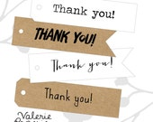 Super Simple Thank you Tags (40) - etsy shop tags - wedding favor tags