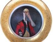 """Lieutenant Bill Ajaja - Altered Vintage Plate 11"""""""