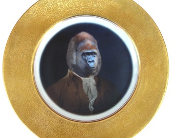 Sir Anthony Rossi of Gorillini - Altered Antique Plate 11""