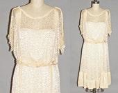 Edwardian 1920s Dress, Silk and Lace Bohemian Wedding Dress, Downton Abbey Great Gatsby Fashion