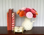 Modern Valentine Bouquet; 12 Paper Flowers in Pinks and Orange; Valentines Day Decor; Gift for Her; Gift under 40