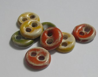 Happy Small Ceramic Buttons