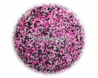 Pink,Black and White Sanding Sugar Edible Sprinkles Cake,Cakepops, Cookie Decorations Confetti