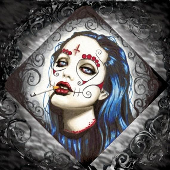 Sugar Skull Angelina Jolie Wall decal