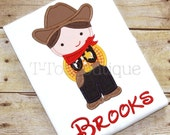SALE - Cowboy Woody Toy Embroidered Shirt or Bodysuit - FREE PERSONALIZATION