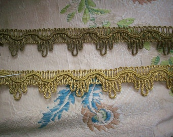 1 yard of an antique french dark gold or lighter gold metal trim, more avail.