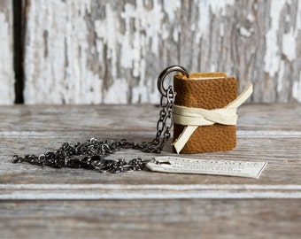 Book Necklace: Husk by Peg and Awl