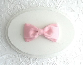 "3"" Simple Light Pink Boutique Hair Bow for Toddlers ~ Girls"